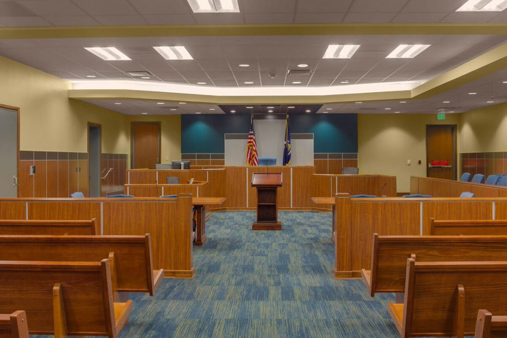interior photo of livingston parish court house