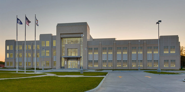 exterior photo of livingston parish courthouse