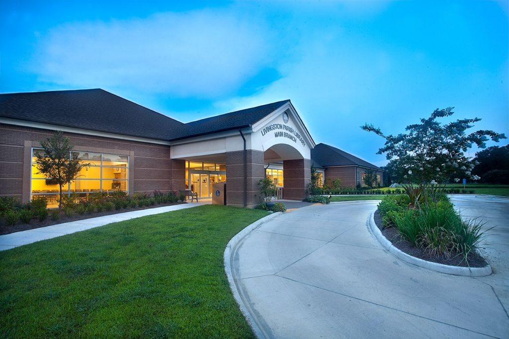 exterior photo of livingston parish library