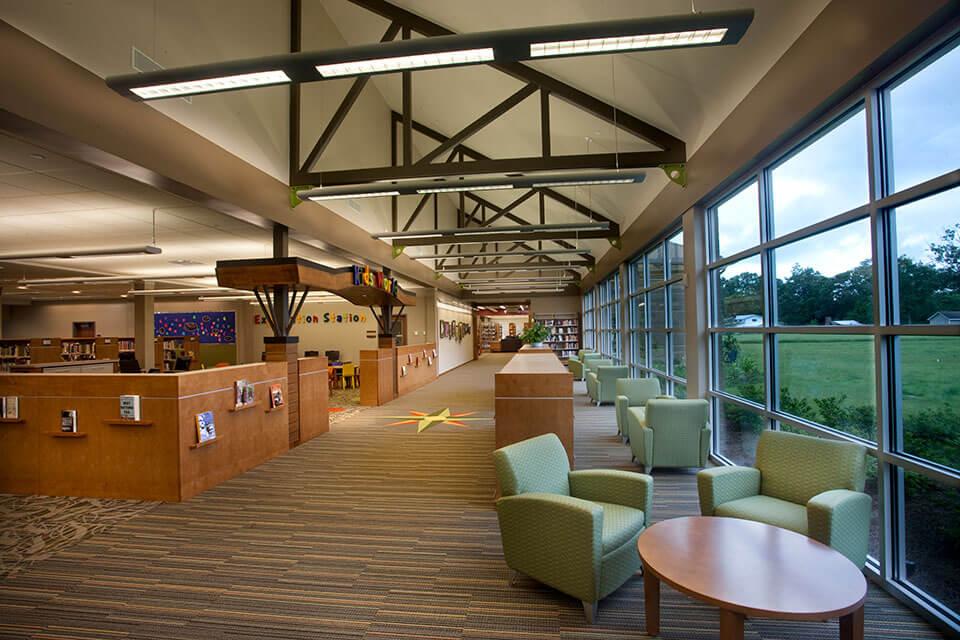 livingston library interior